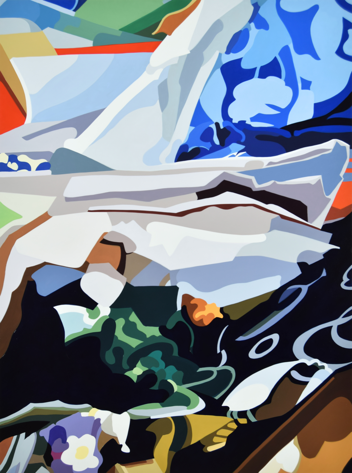 "Stephanie No. 1  , 2016, 56"" x 42"", Oil on Linen"