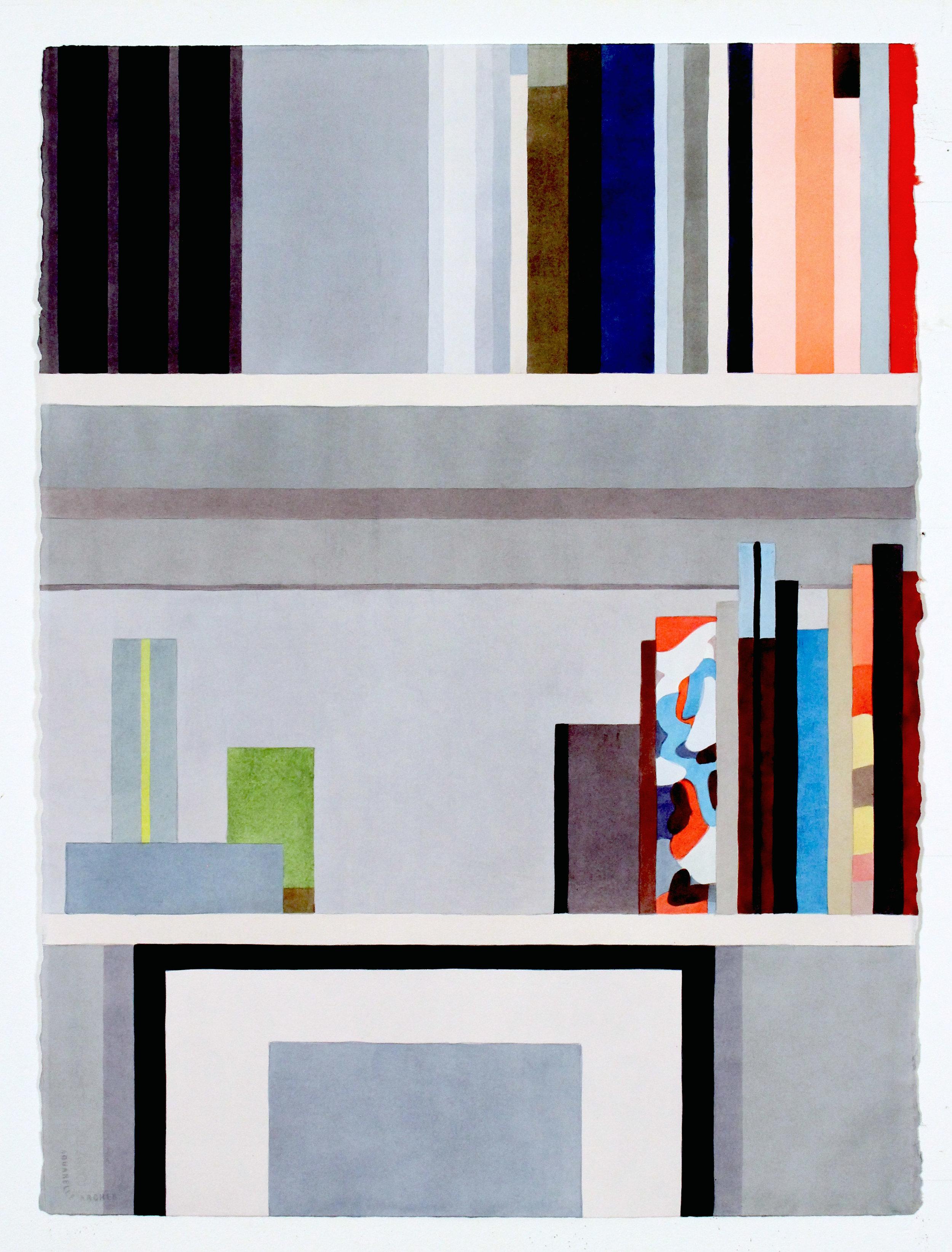 """James No. 1,  2016, 30"""" x 22"""", Watercolor"""