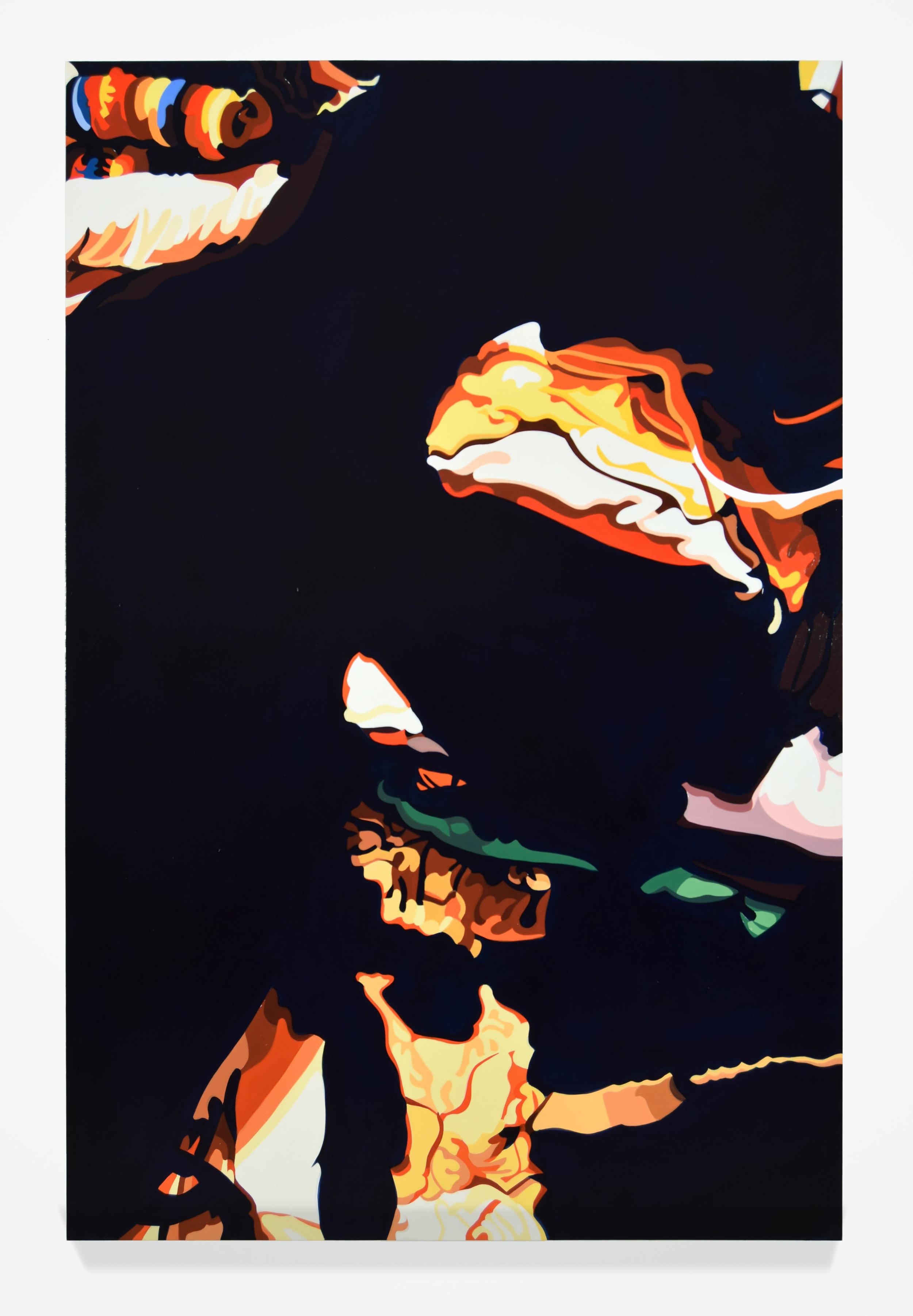 "Ed No. 1, 2016, 60"" x 40"", Oil on linen"