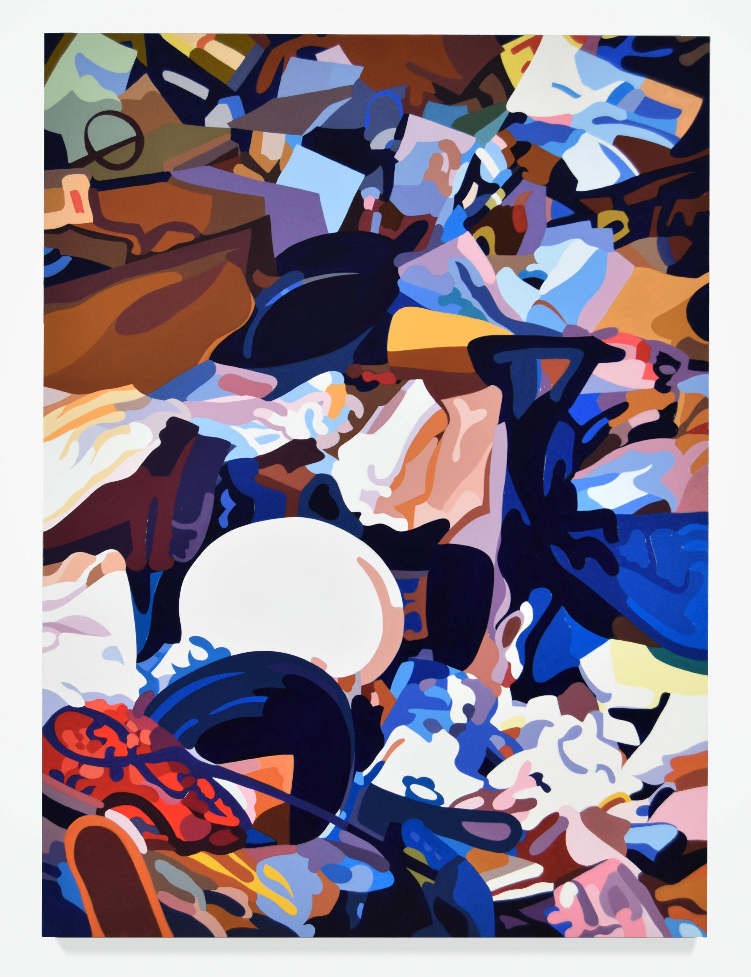 """Harold No. 1, 2016, 76"""" x 56"""", Oil on linen"""