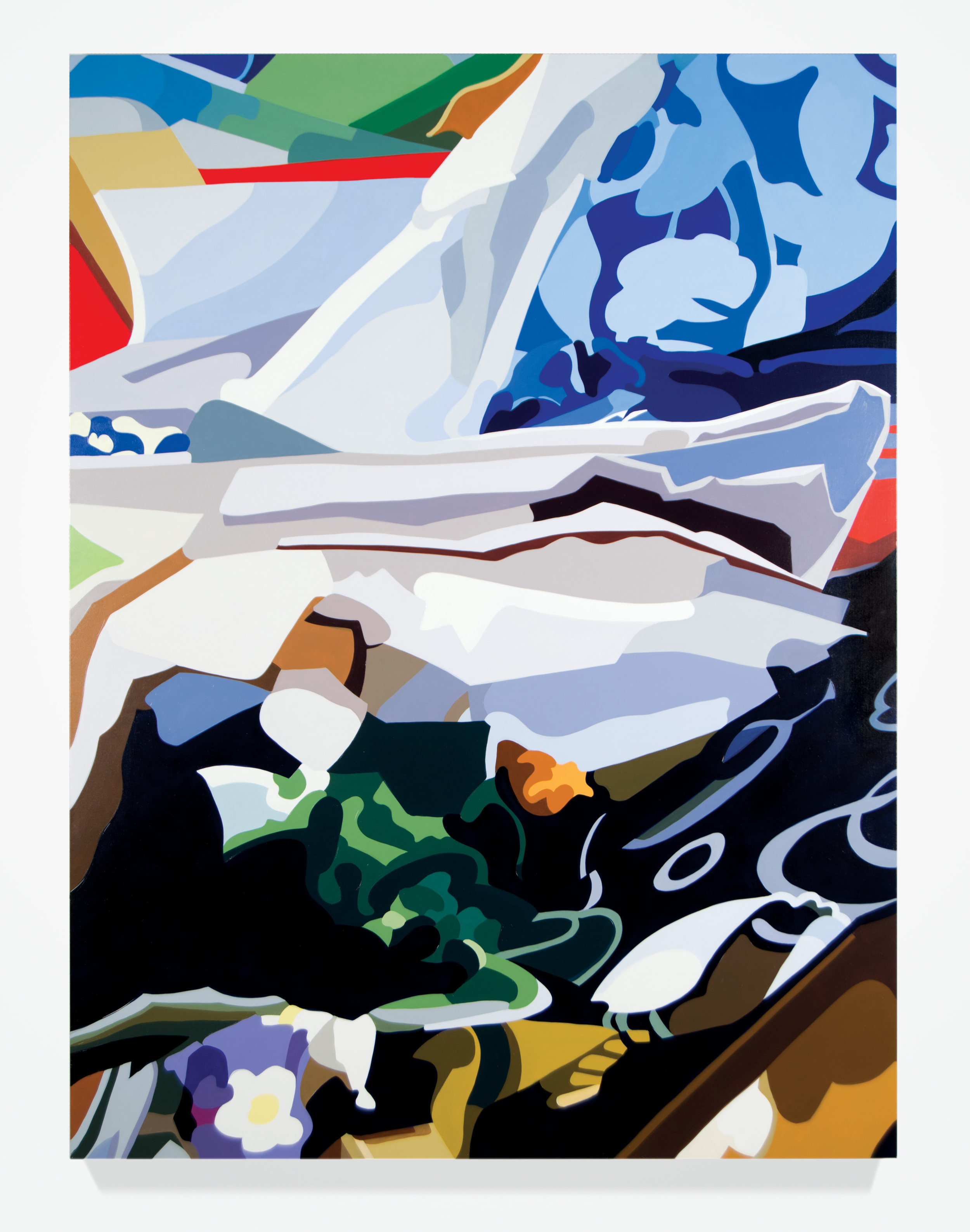"Stephanie No. 1, 2016, 56"" x 42"", Oil on linen"