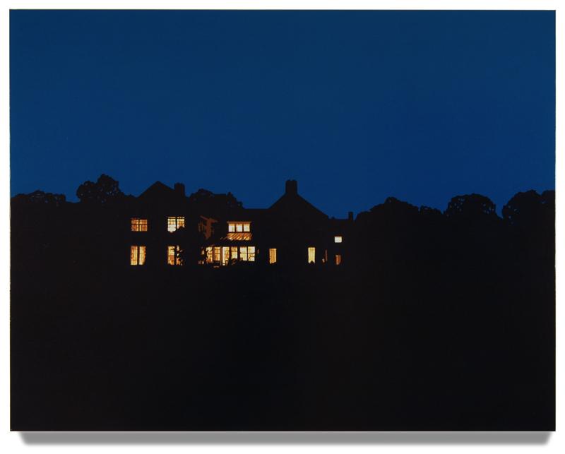 "House at Night IV (Washington,CT), 2013, 40"" x 52"", Oil on linen"
