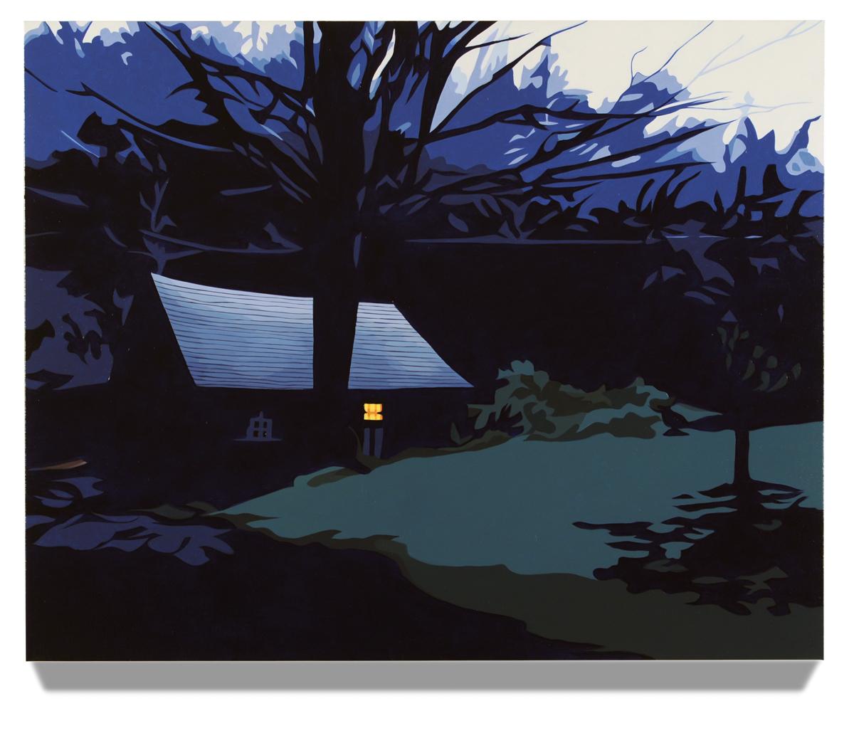 """Barn at Dusk, 2014, 24"""" x 30"""", Oil on canvas"""