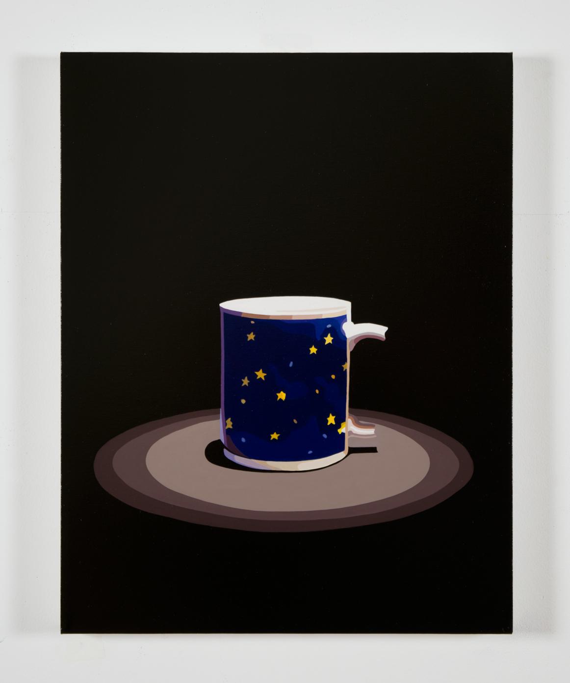 """Relics (mug), 18"""" x 14"""", oil on linen,  30 sec AR"""