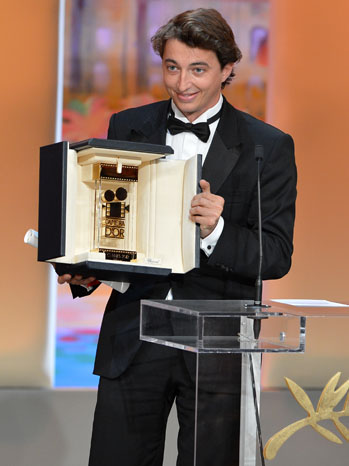 US director Benh Zeitlin poses on stage