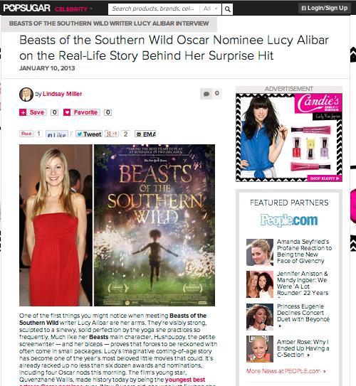 Lucy Beasts PopSugar