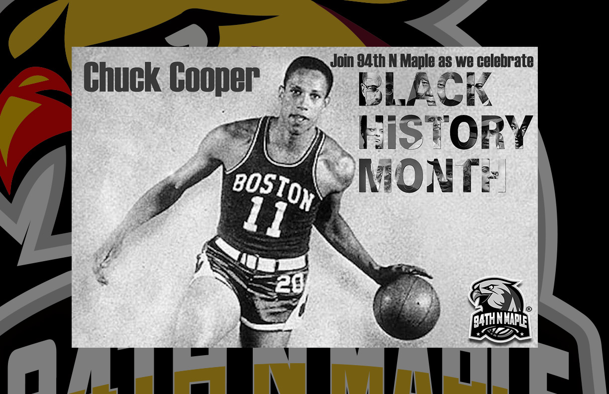 Cooper was the first black player taken in the NBA Draft, after being chosen 13th overall by the Boston Celtics in 1950.Playing for legendary coach Red Auerbach, Cooper and future Hall-of-Famer Bob Cousy helped bring the Celtics back from their early years' mediocrity. For four seasons, Cooper served as a reliable piece for the Celtics, averaging 6.8 points and 6.6 rebounds per game.