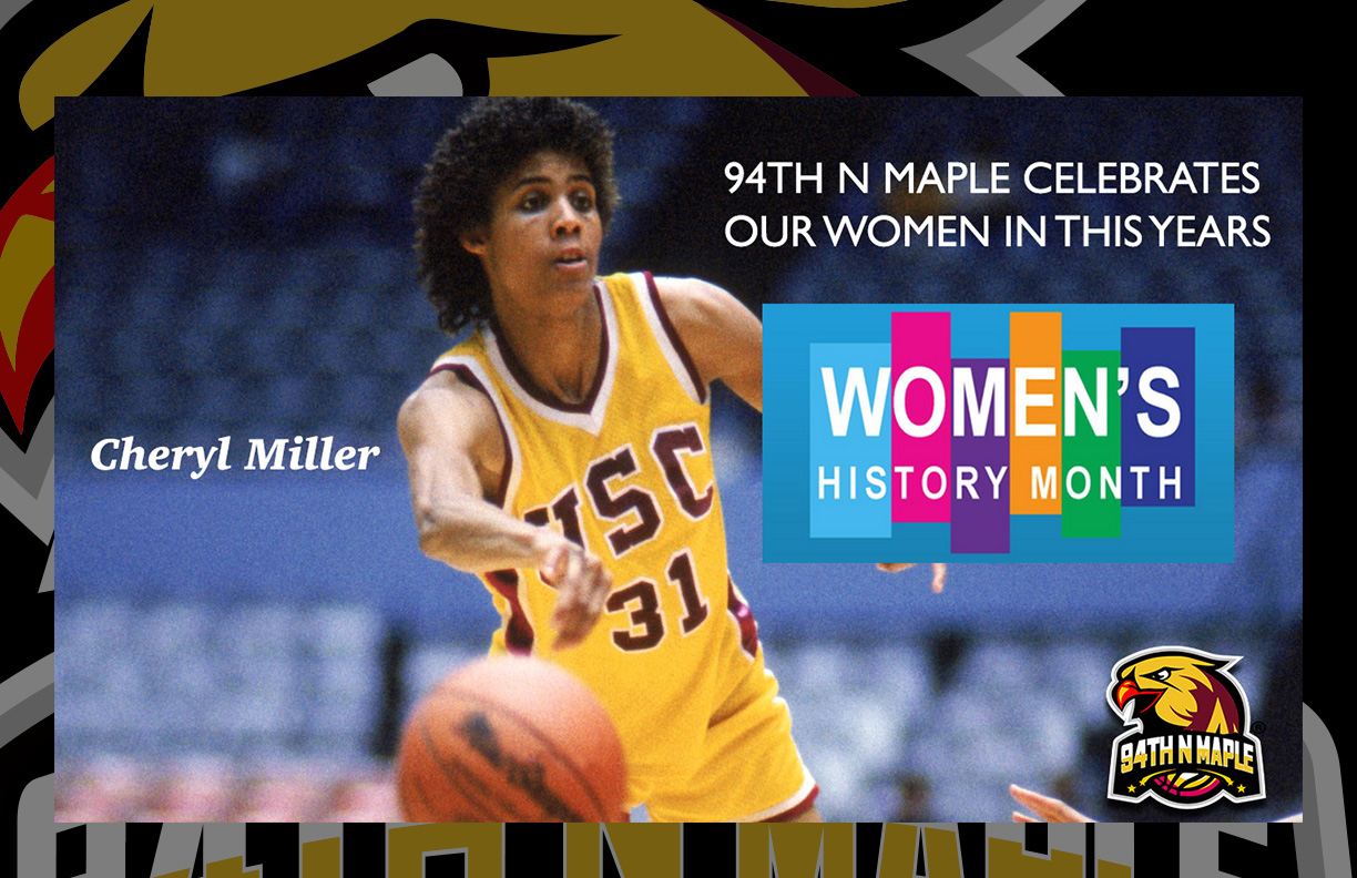 One of the most decorated high school and collegiate women's basketball players in history, Cheryl Miller helped her Riverside Poly High School team post a four-year record of 132-4, notch an 84-game winning streak, and win four straight CIF-Southern Section championships. She also Scored 105 points in a single game!