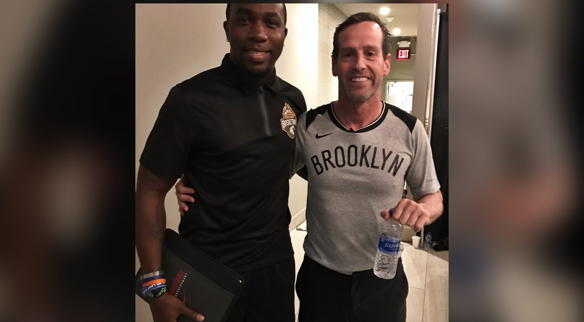 Director Amaree Taylor meets with Brooklyn Nets Head Coach Kenny Atkinson!