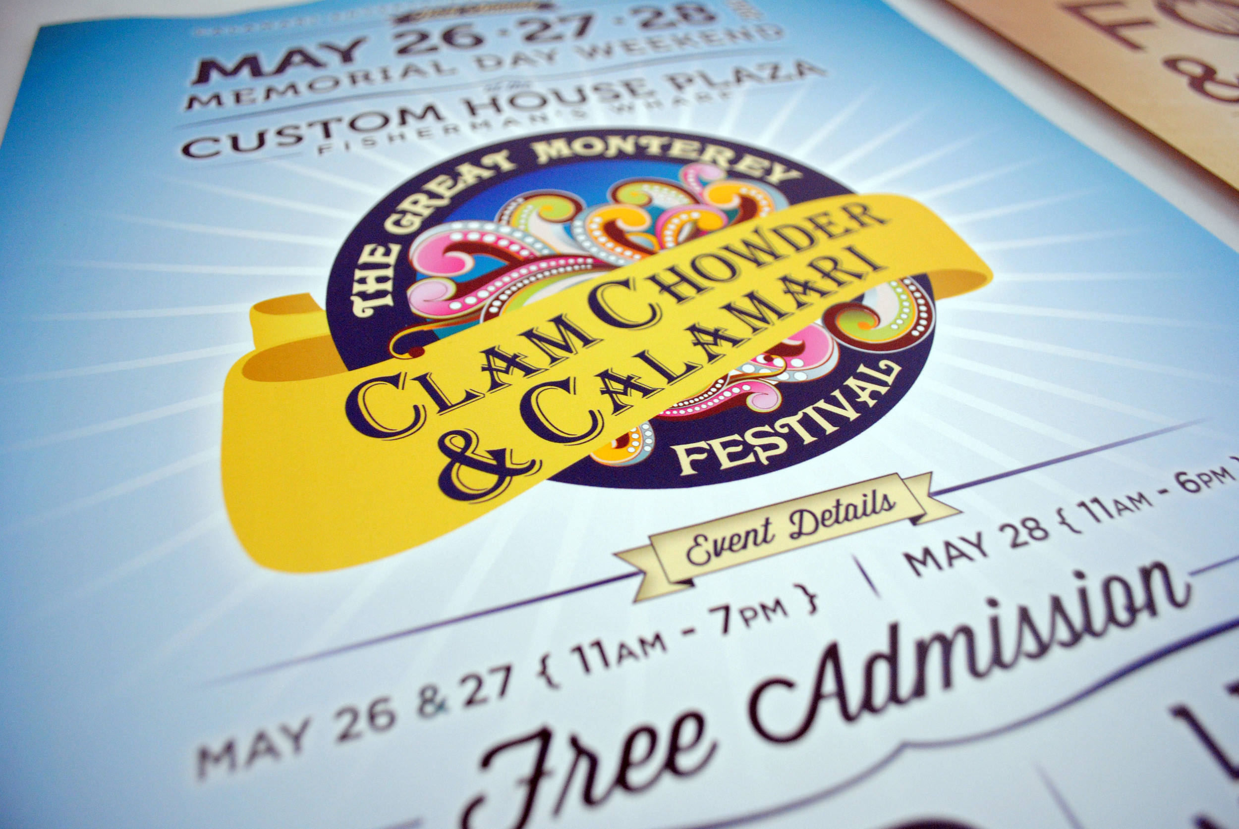 The Great Monterey Clam Chowder and Calamari Festival Poster