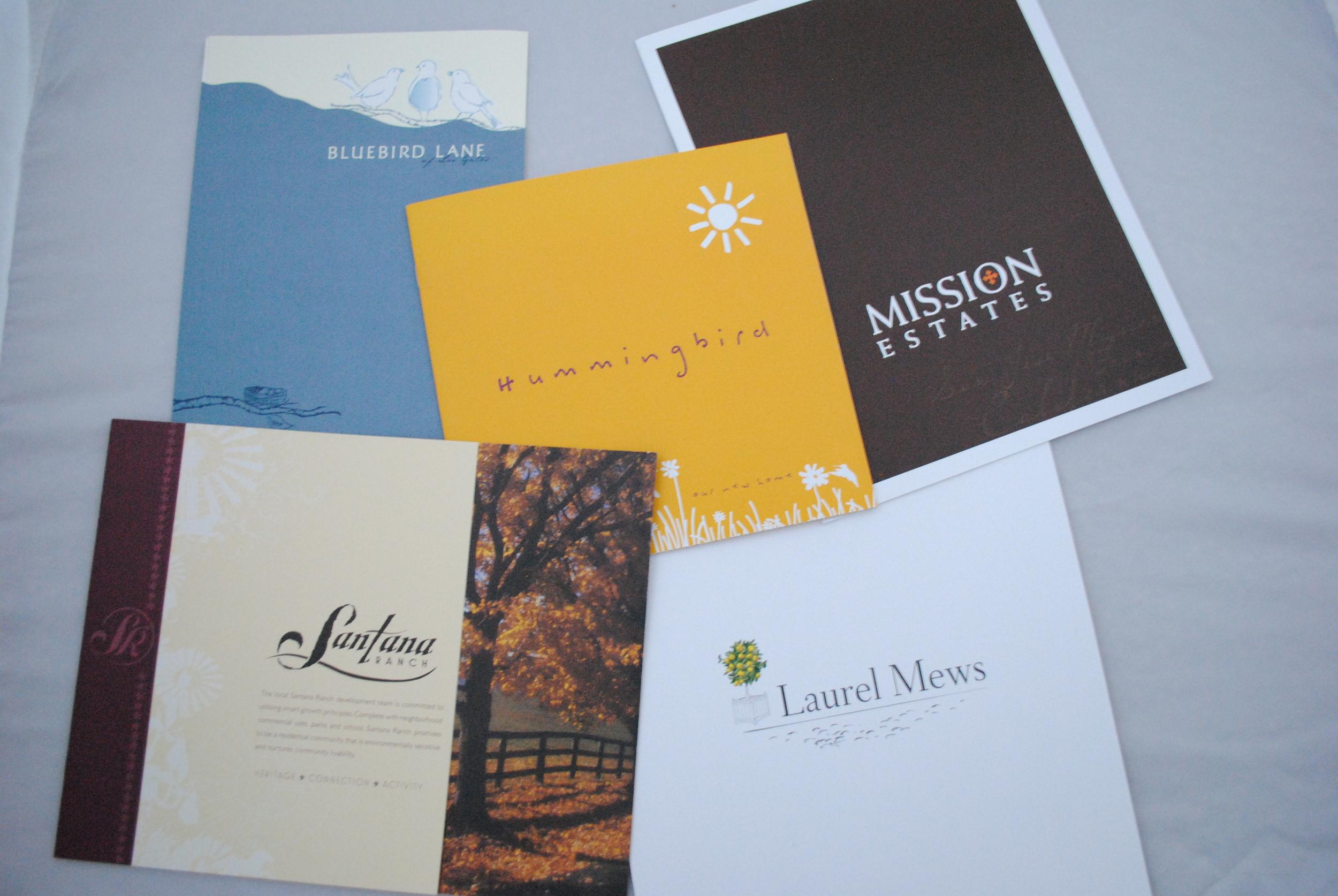 Home developement brochures