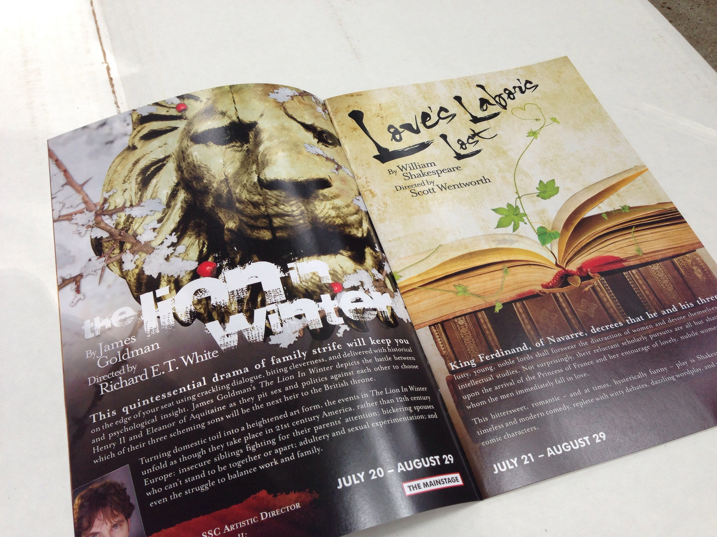 Shakespeare Santa Cruz - The Lion in Winter, Loves Labors Lost