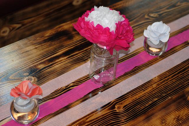 Priscilla's Bridal Shower Table Decor