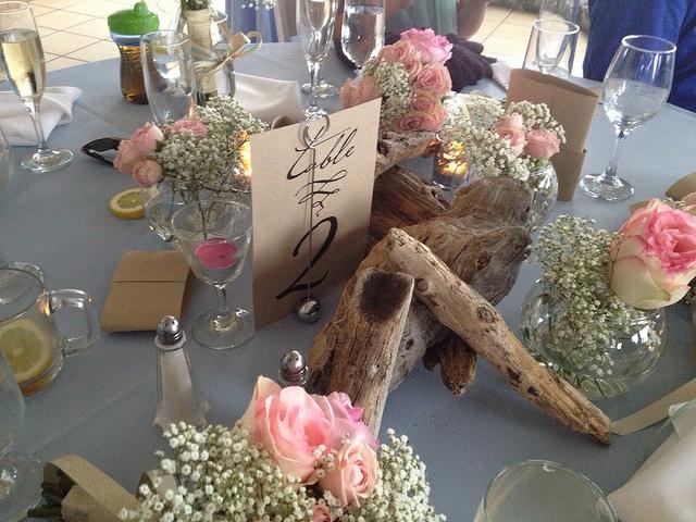Priscilla + Nick Wedding Table Sign