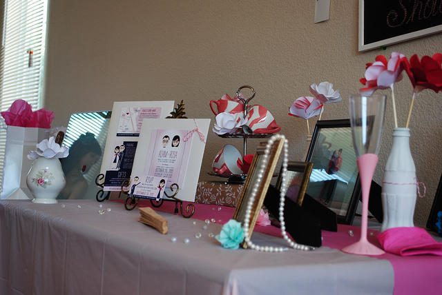 Rosa's Bridal Shower Entrance Table