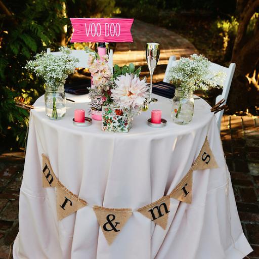 Rosa + Adam's Wedding Sweetheart Table