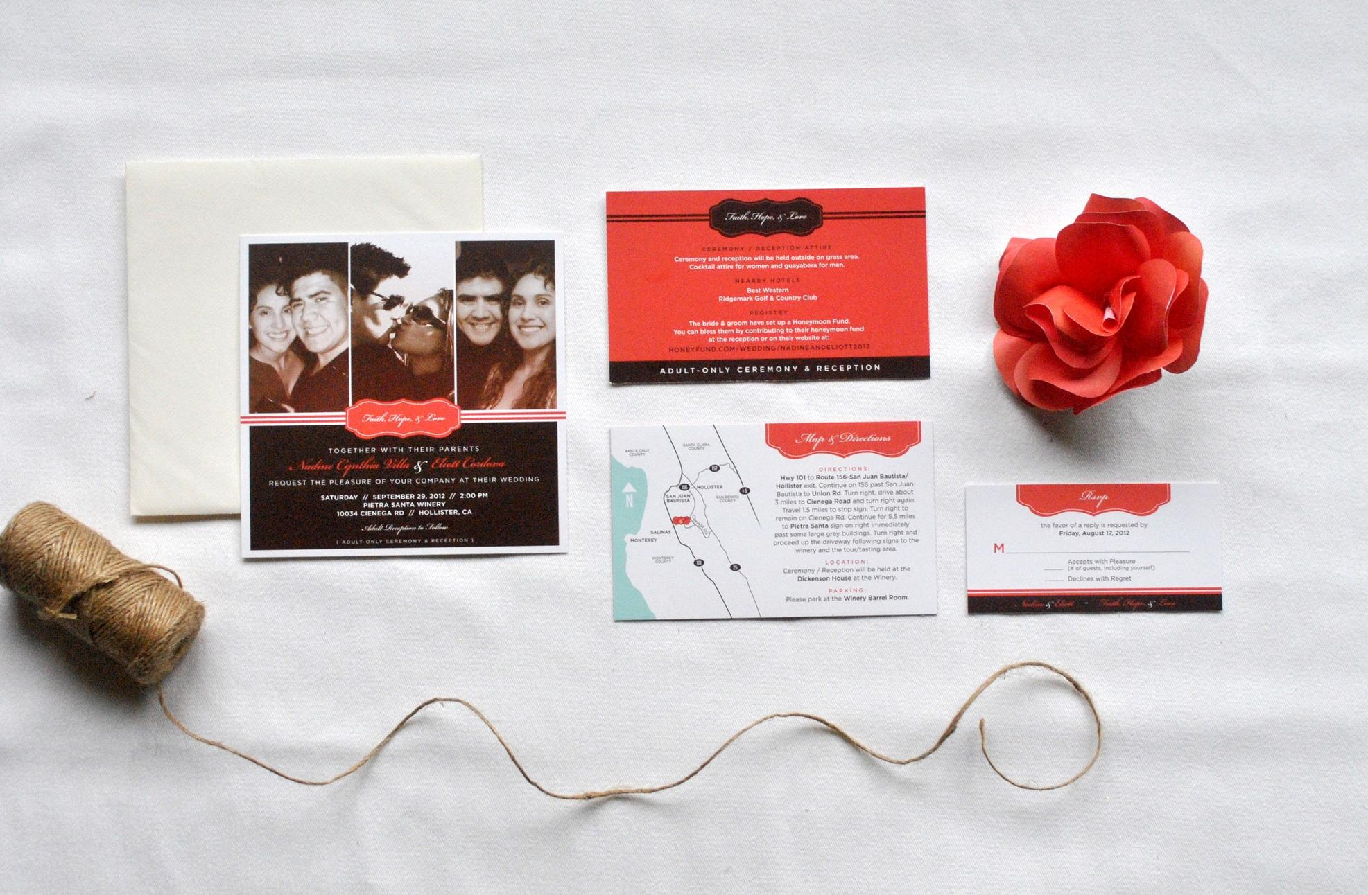 Nadine + Eliot Wedding Invitation