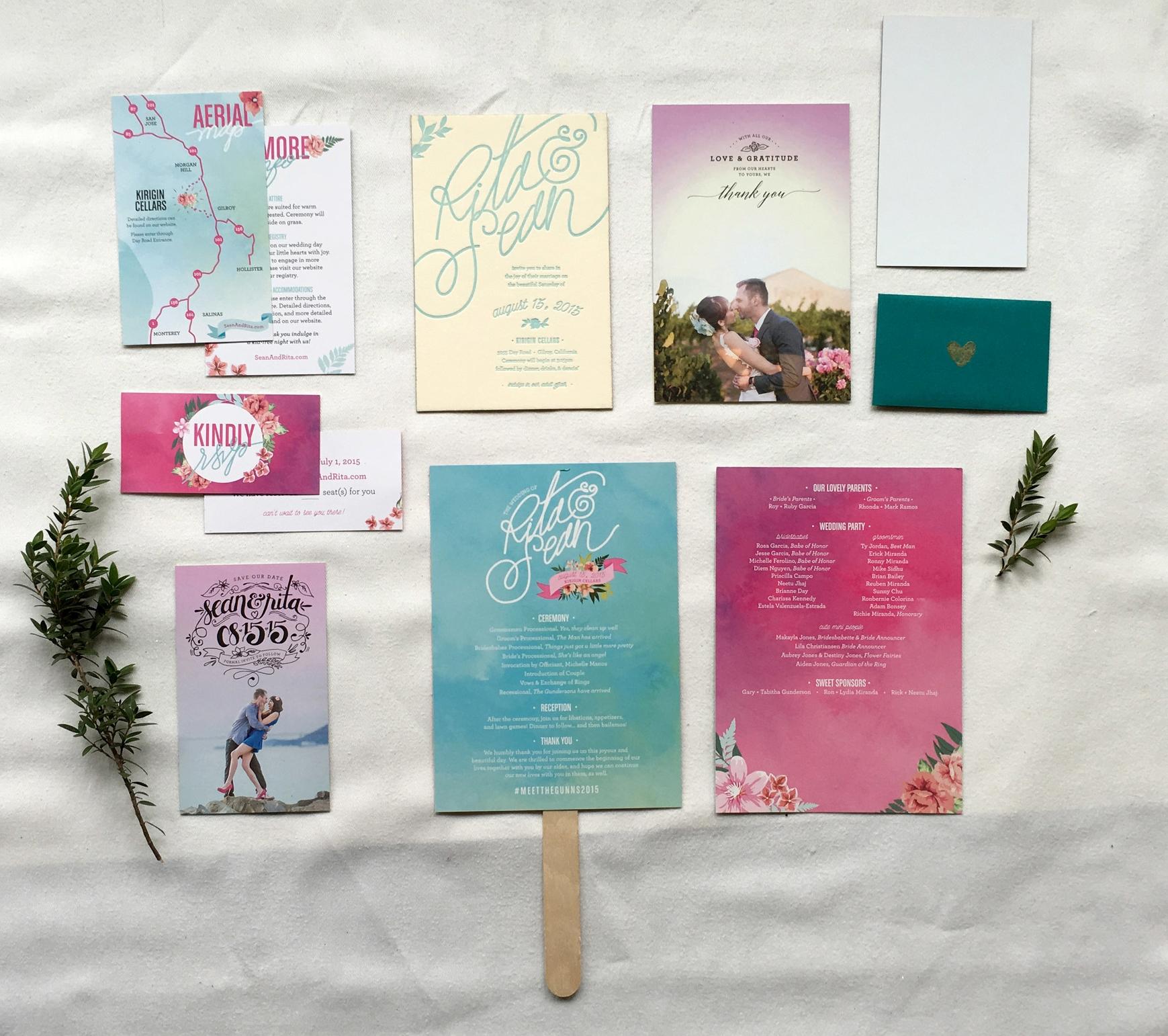 Rita + Sean Wedding Stationery Package