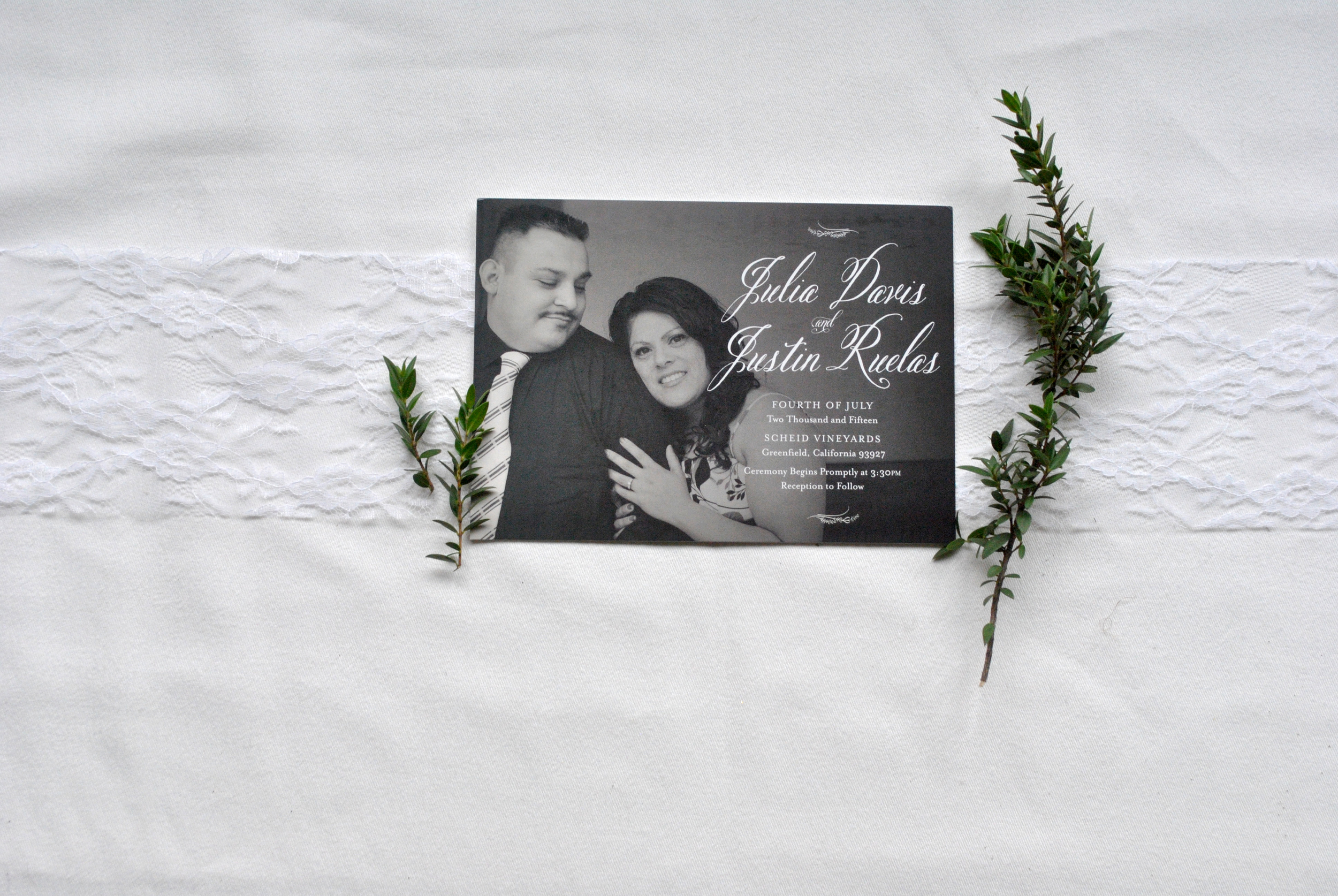 Julie + Justin Invitation