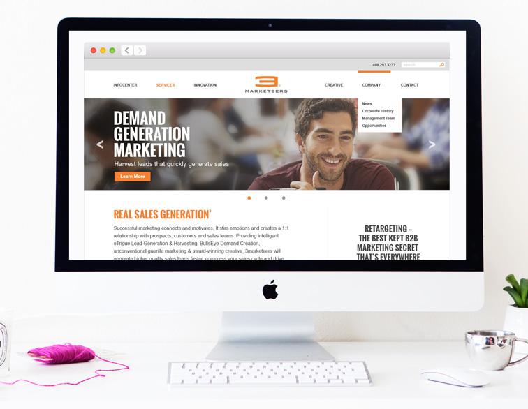 3marketeers Website - Home
