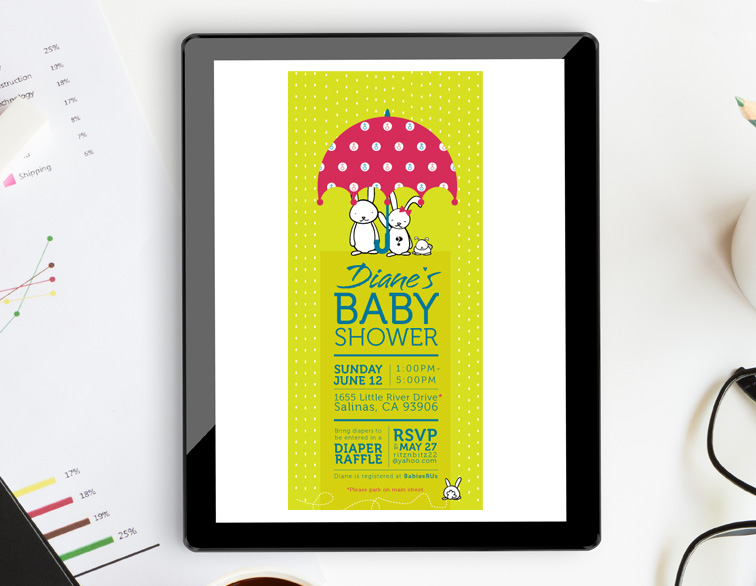 Baby Shower Email Invite