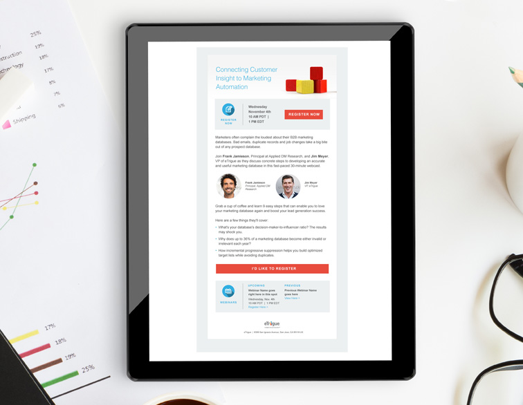 eTrigue Email Template