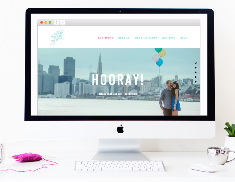 Rita + Sean Wedding Website - Home
