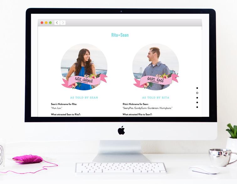 Rita + Sean Wedding Website - About