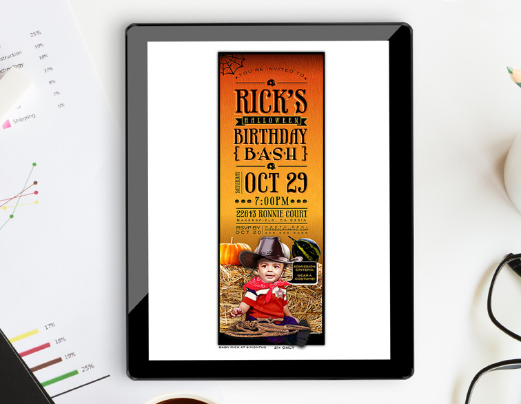 Halloween Birthday Party Email Invite