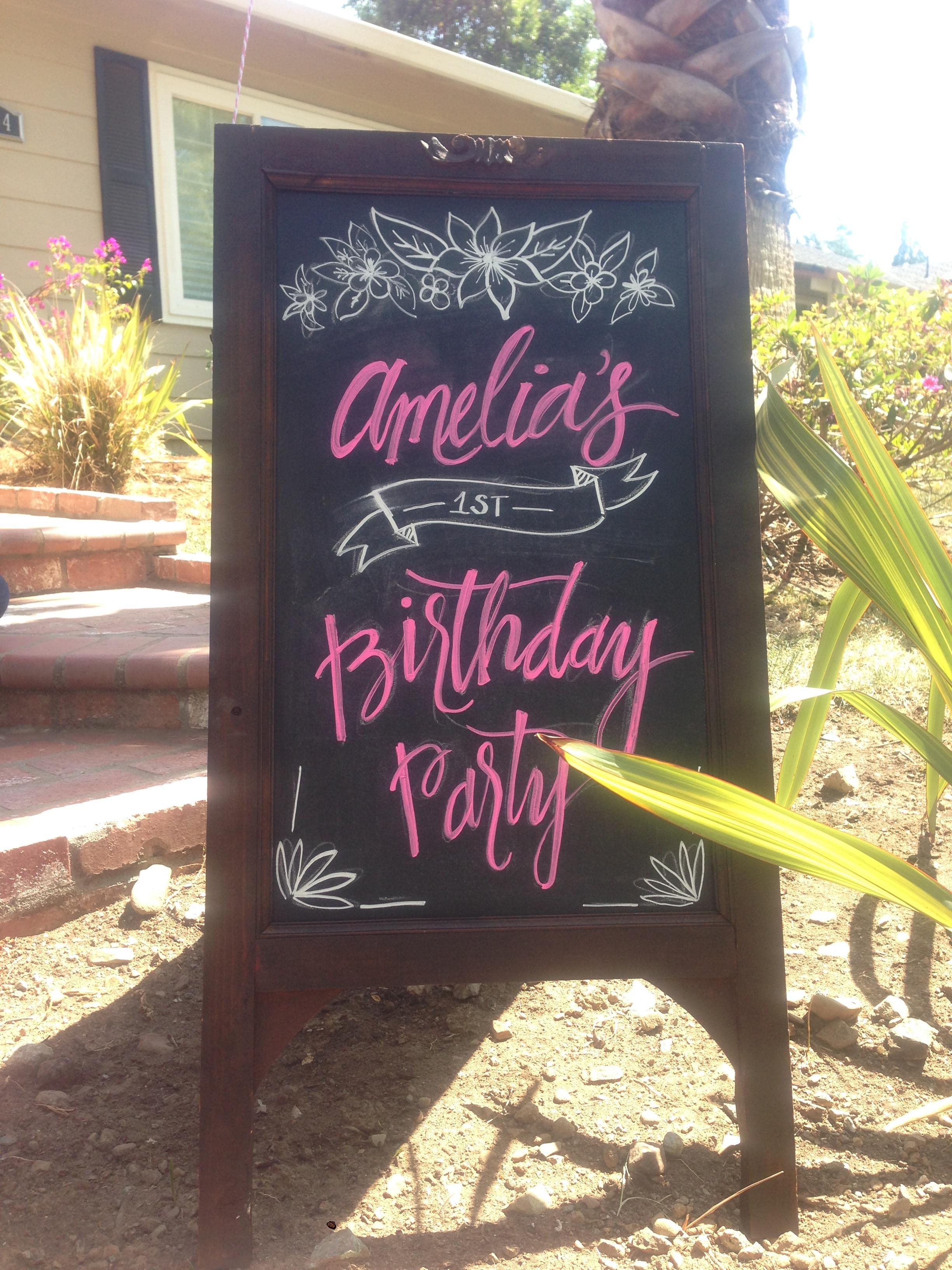 Amelia's First Birthday Signage
