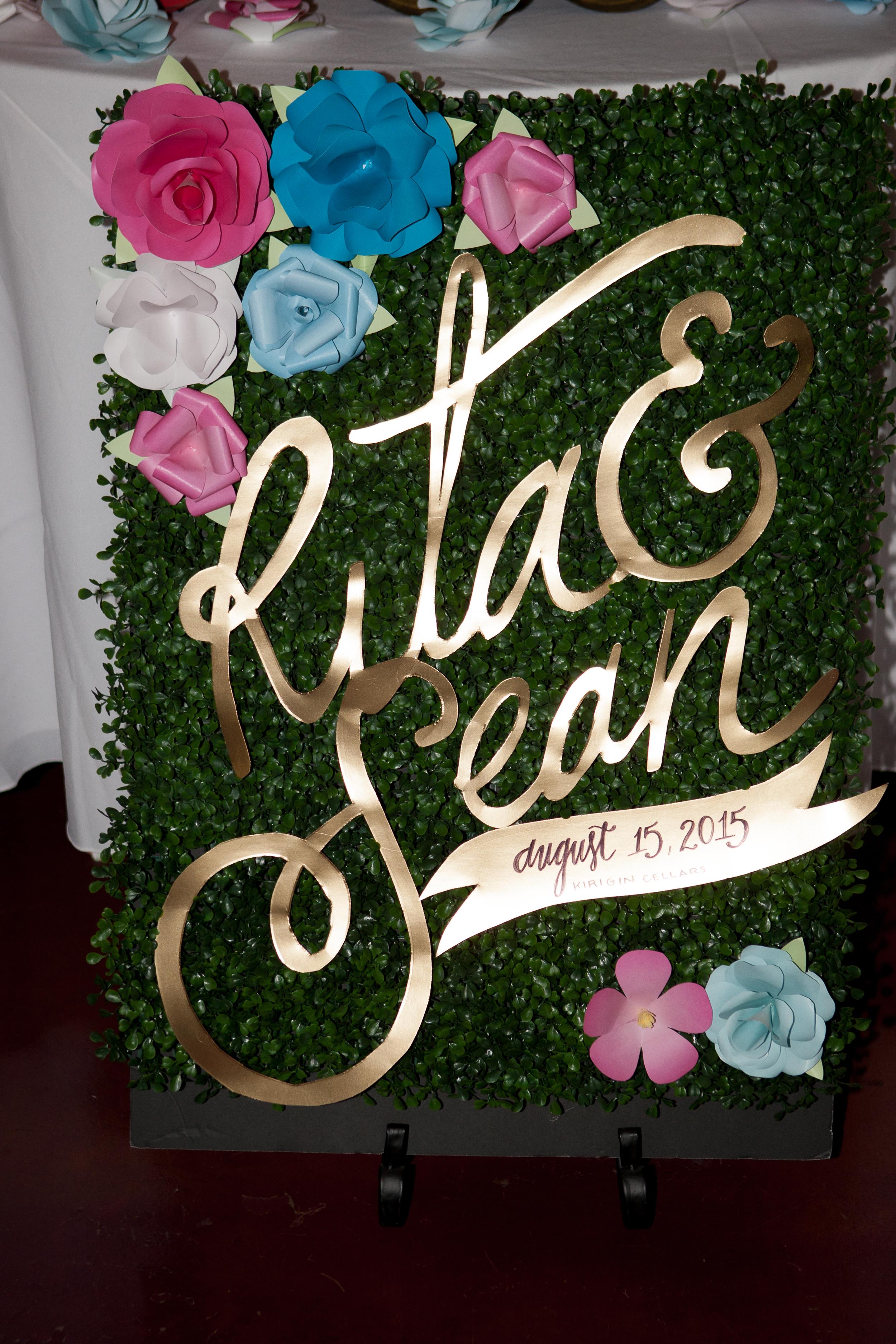 Rita + Sean Display