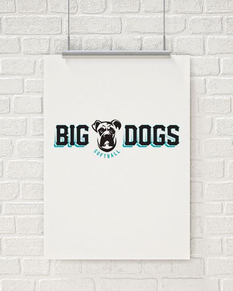 Big Dogs Softball Logo