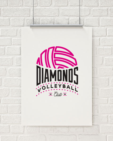 Diamonds Volleyball Logo - Revamped