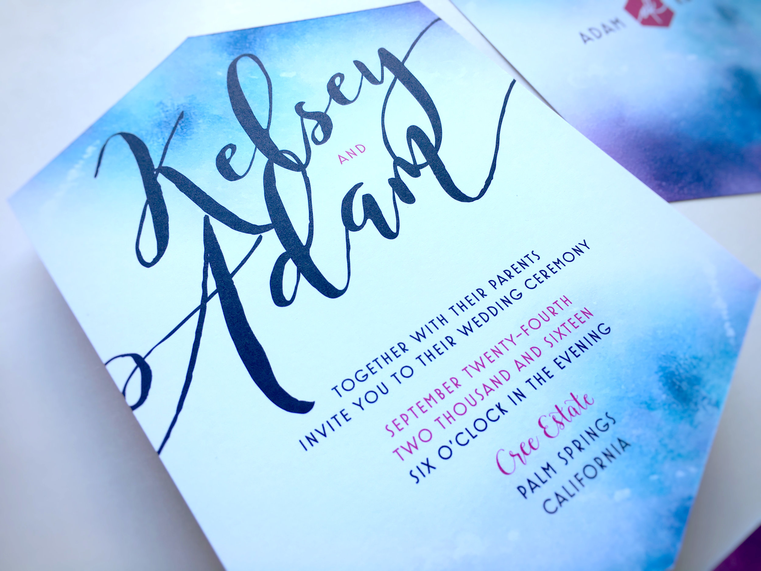 Kelsey and Adam Whimsical Wedding Invite
