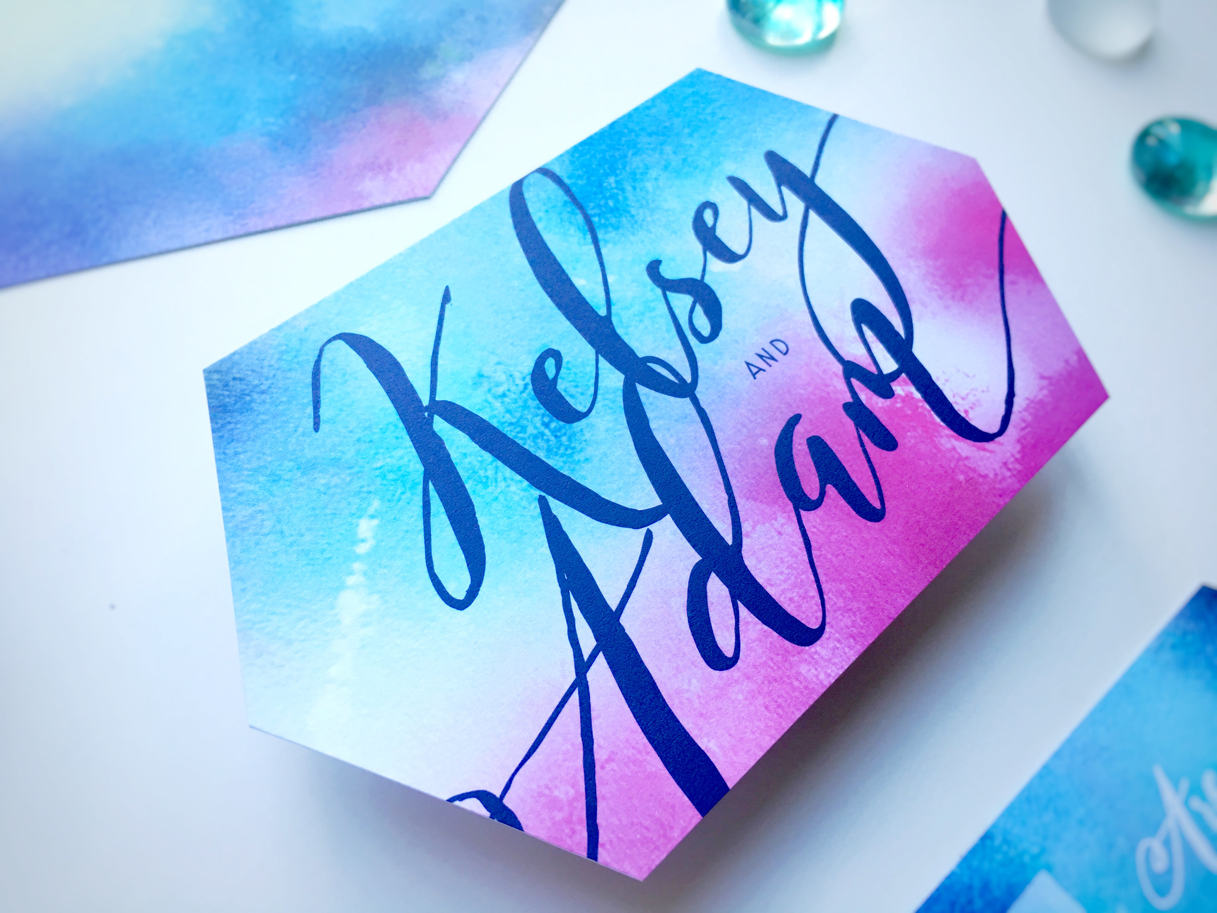 Kelsey and Adam Whimsical Wedding Invitation RSVP Card
