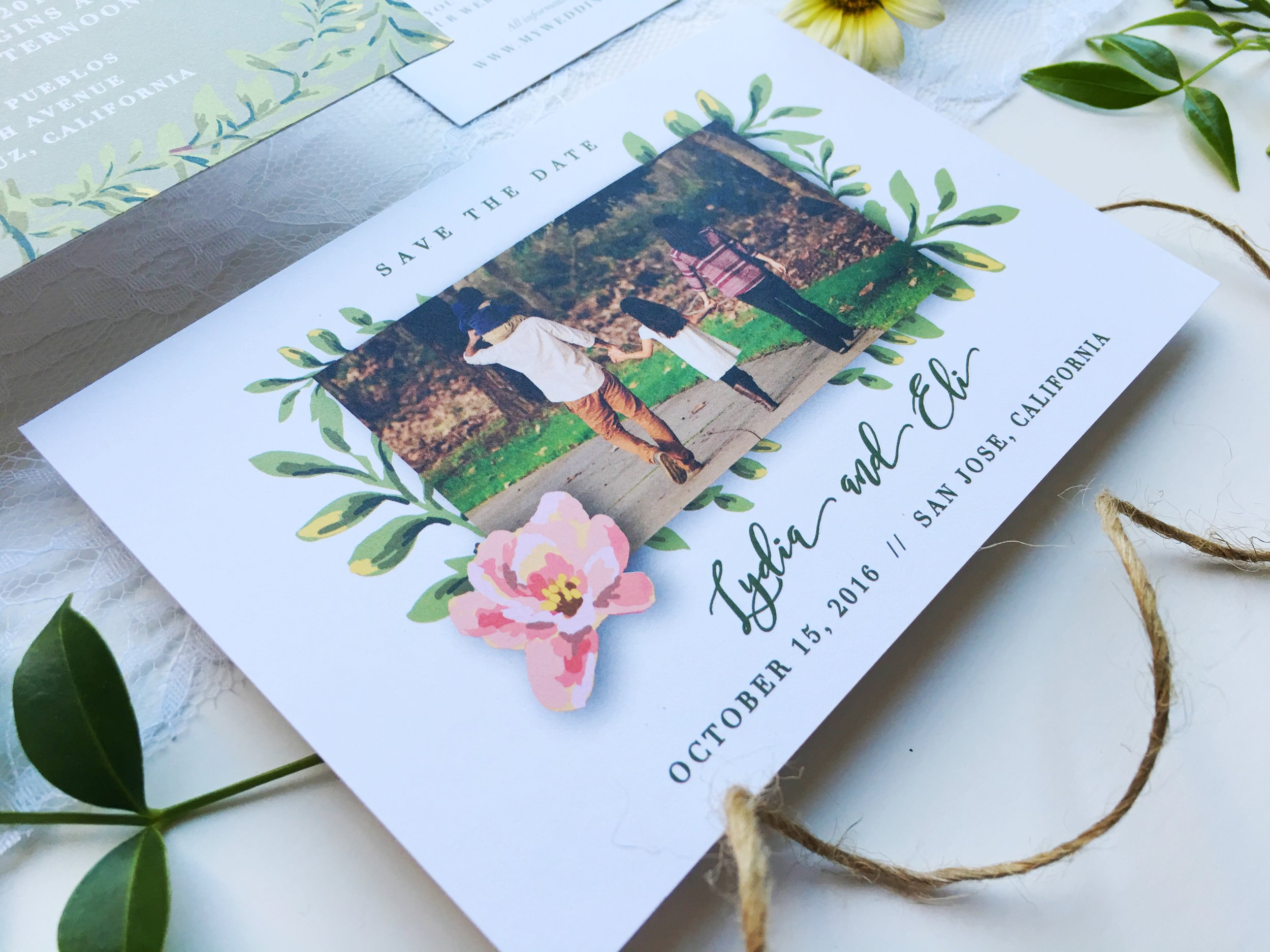 Lydia and Eli Whimsical Rustic Wedding Invitation Suite