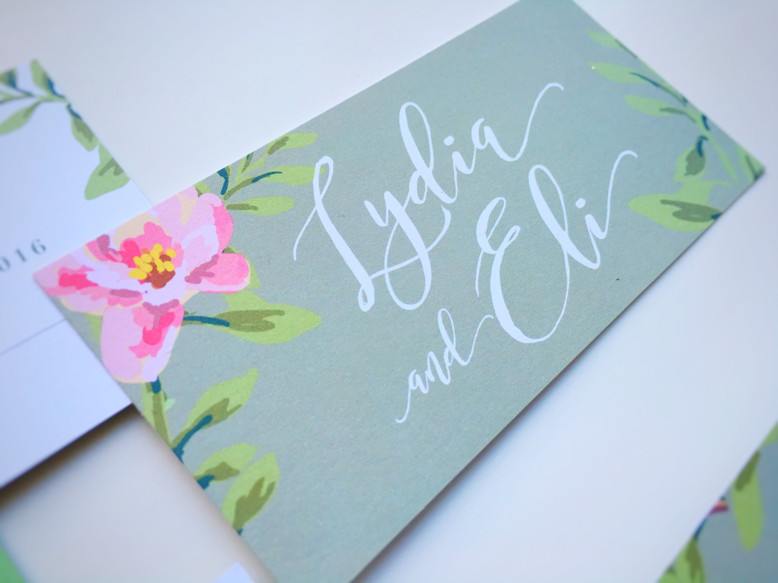 Lydia and Eli Whimsical Rustic Wedding Invitation Suite RSVP Card