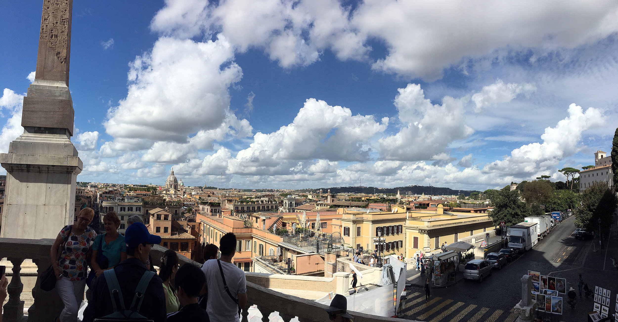 View over Spanish Steps (Roma)