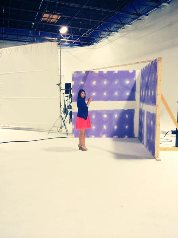 Video shoot with National Gypsum's  Ask for PURPLE campaign  featuring DIY Network's Anitra Mecadon.