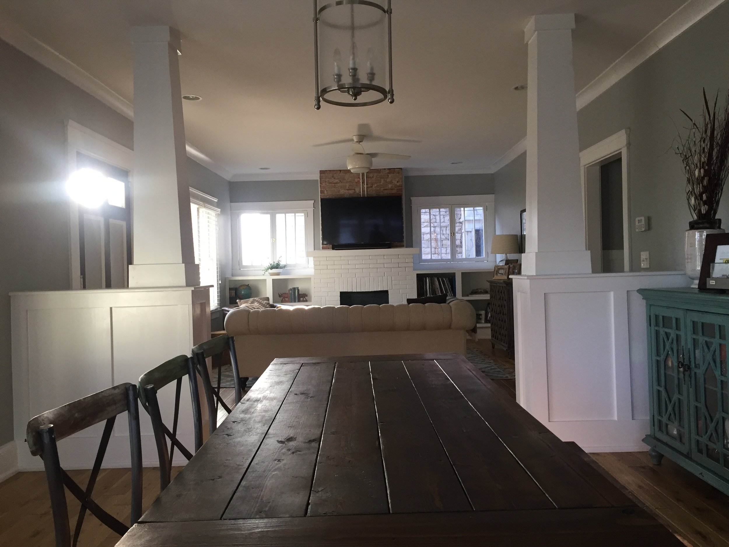 farm house table:  national rustic | chairs:  southeastern salvage