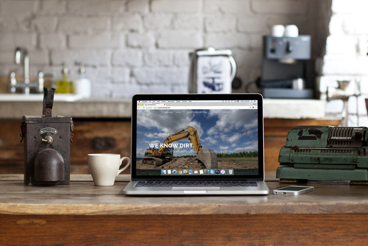design + copy // Clay Excavating