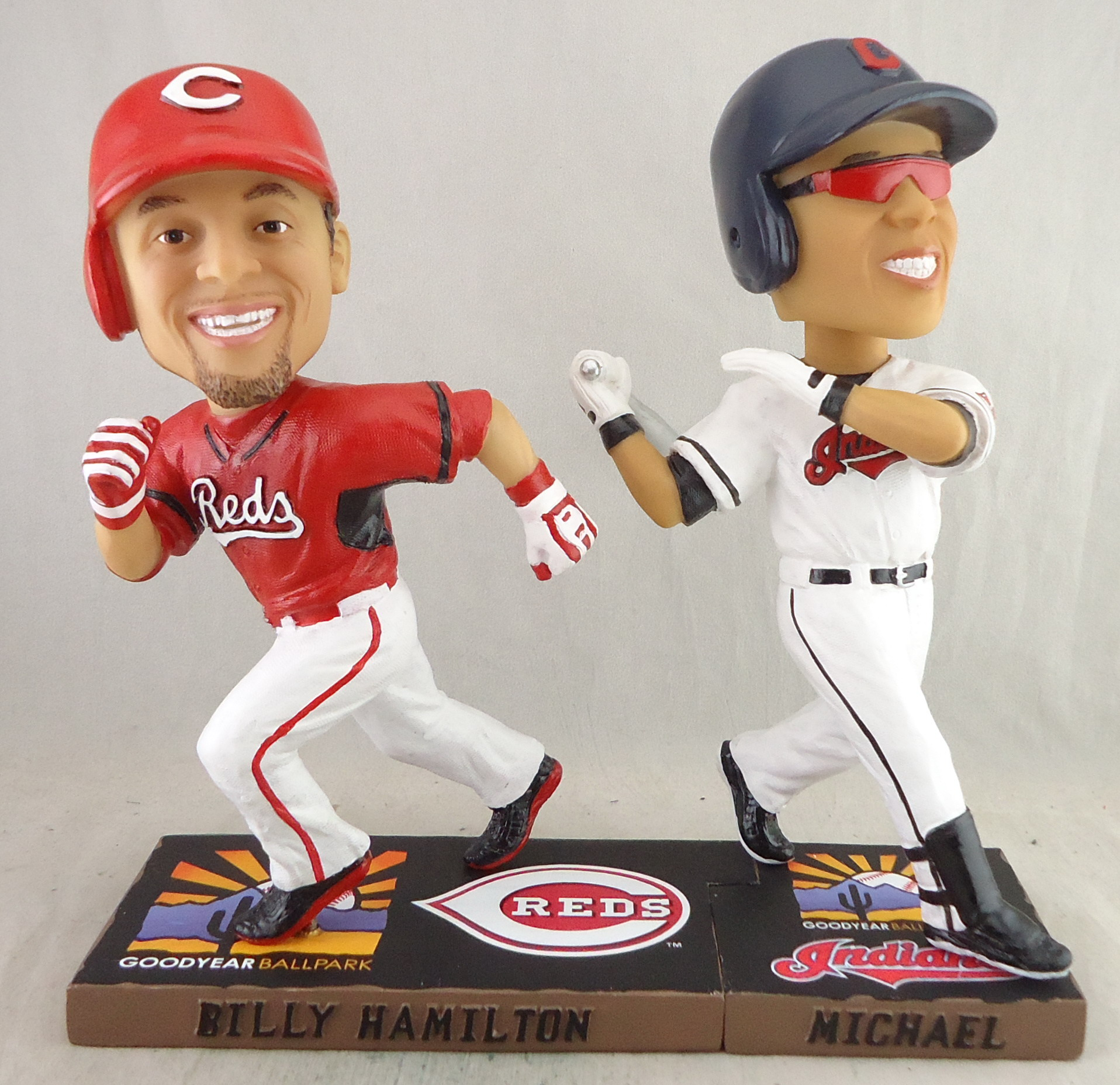 Cleveland Indians - Billy Hamilton 111349 & Michael Brantley 111350, 7in Bobblehead.jpg