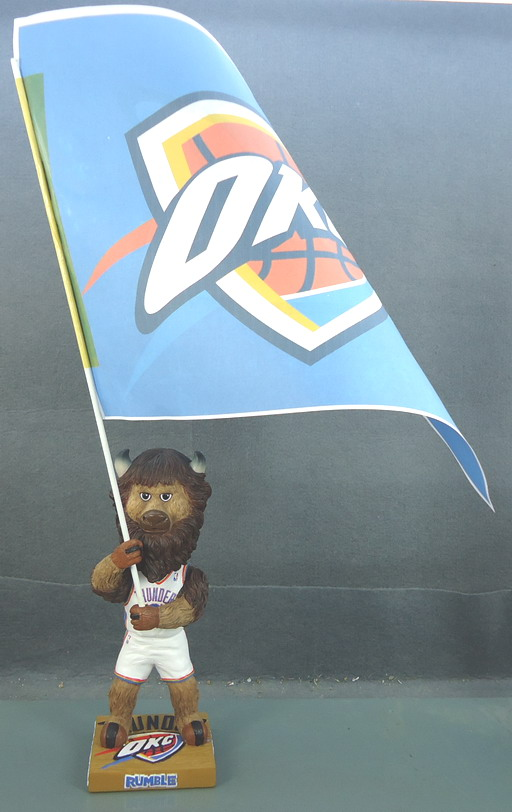 Oklahoma City Thunder -  Rumble with Flag 108824, 7in Bobblehead.JPG