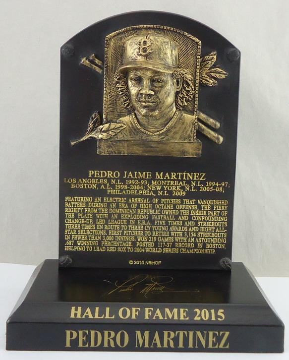 Boston Red Sox - Pedro Martinez HOF Plaque 111648.JPG