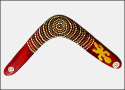 Authentic Australian Aboriginal returning  handmade boomerang   LARGE STRONG FAMILY 17 inch