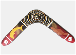 Authentic Australian Aboriginal Returning Handmade Boomerang 17 inch   BELONGING