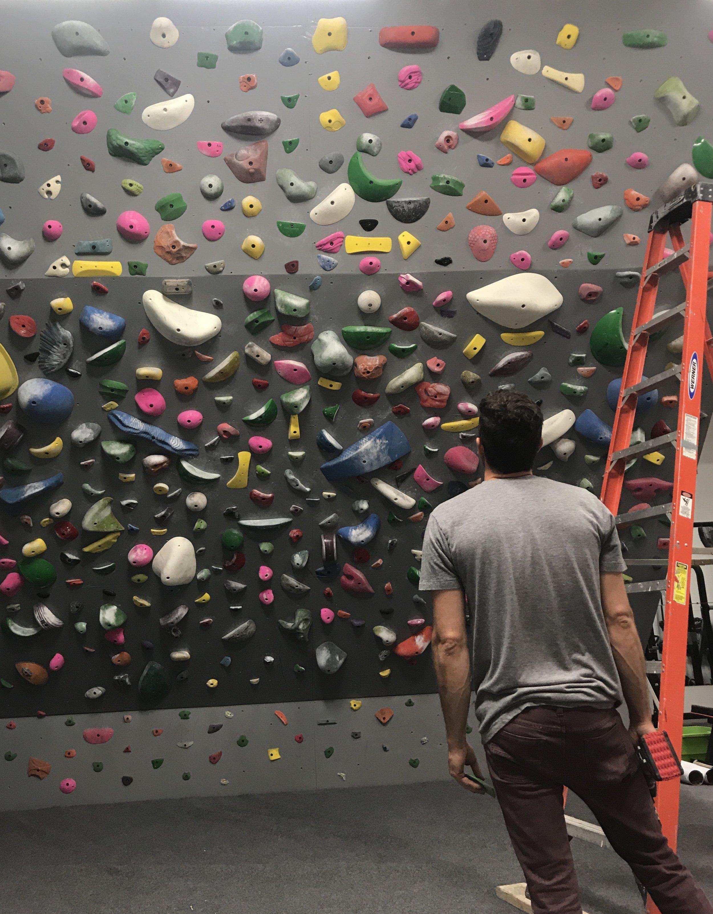 Spray wall SCC Training Room