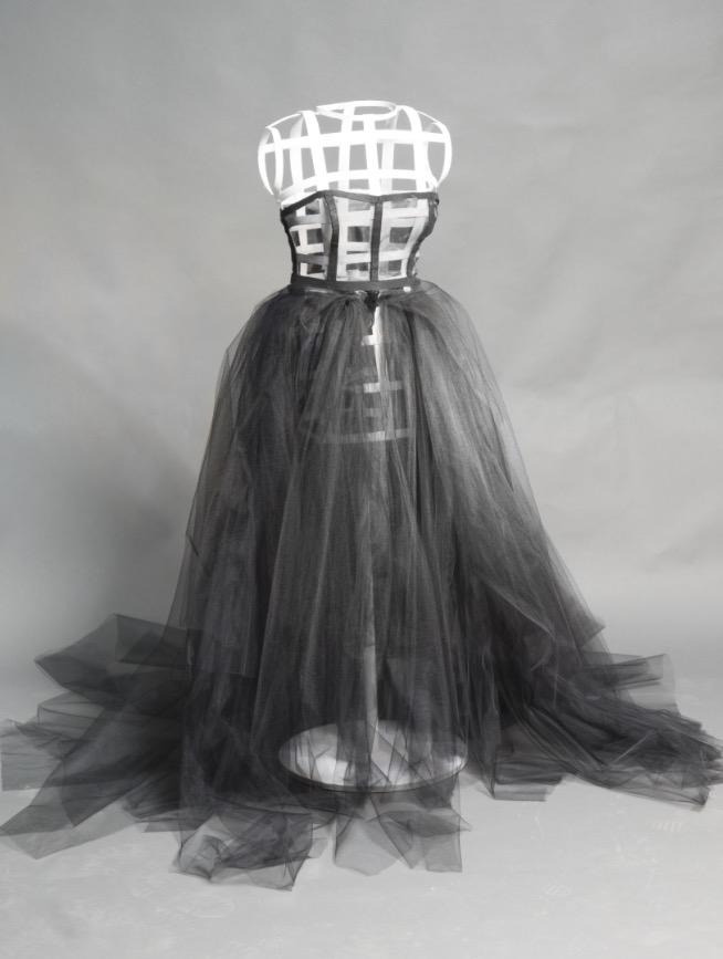 Katherine's ballgown/mannequin project.