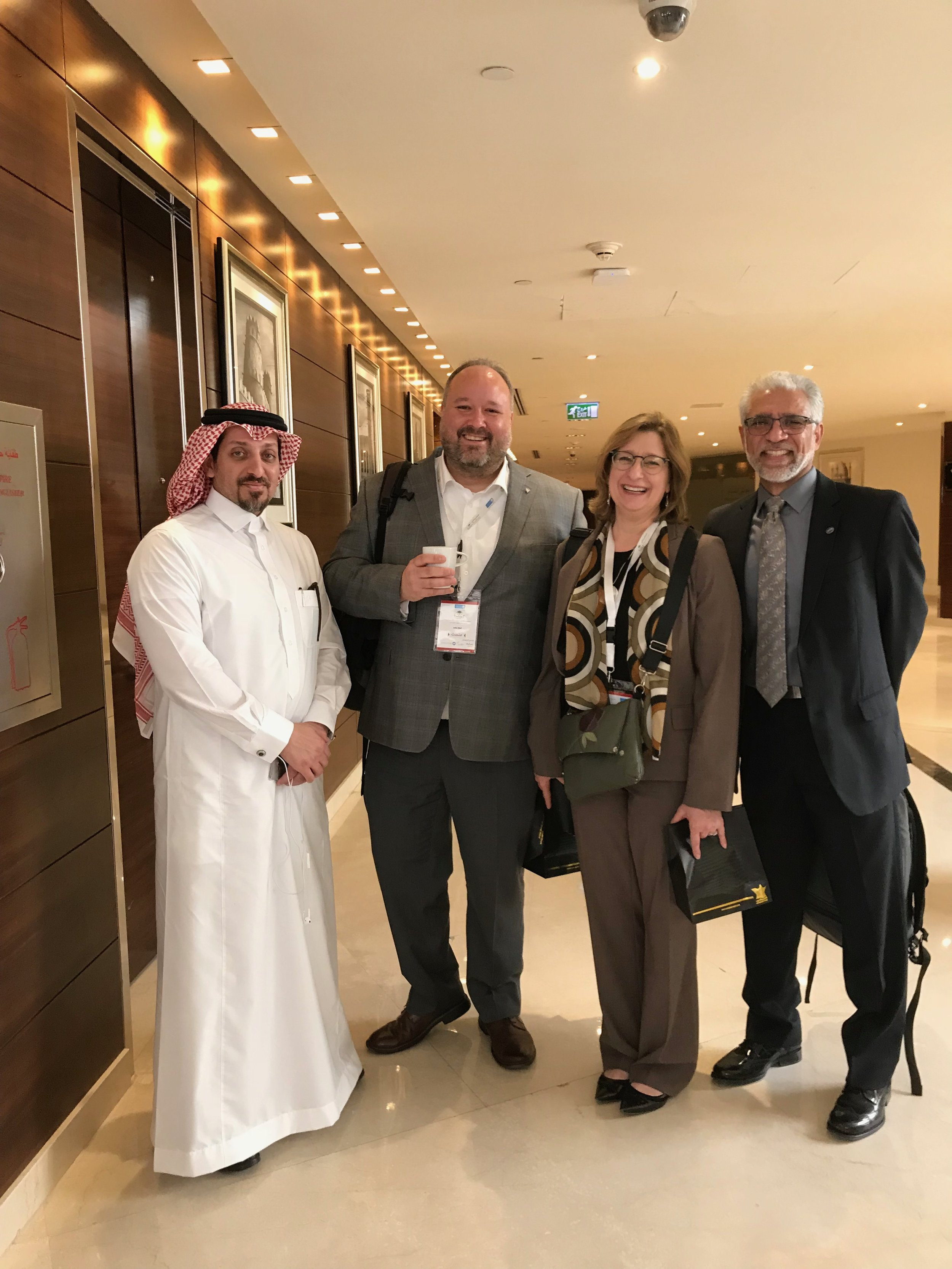 Yahya Al-Harthi, John Bial, Kristin, and Arun