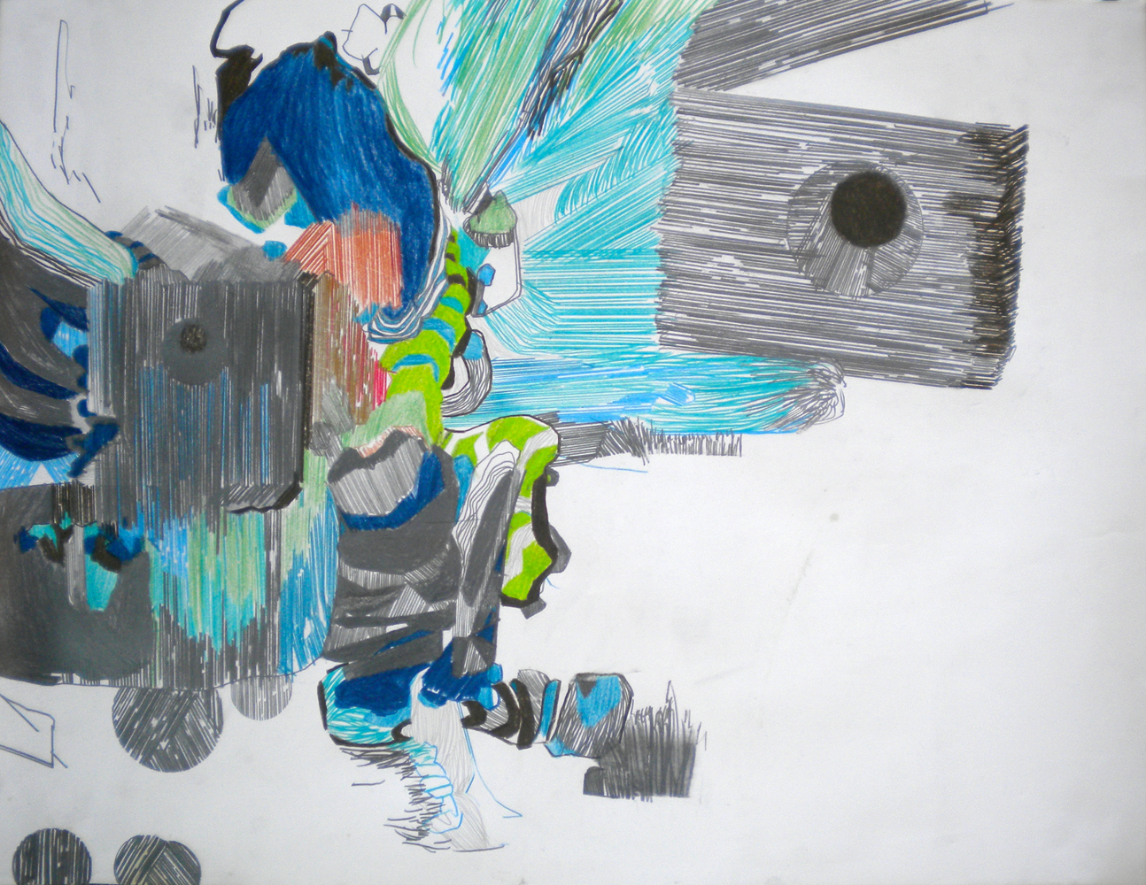 TropiNo2, 50x65 cm, grafito y lápiz a color sobre papel, 2010, $23,000.jpg